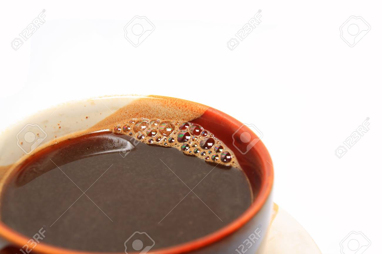 coffee in cup on white background Stock Photo - 12247249