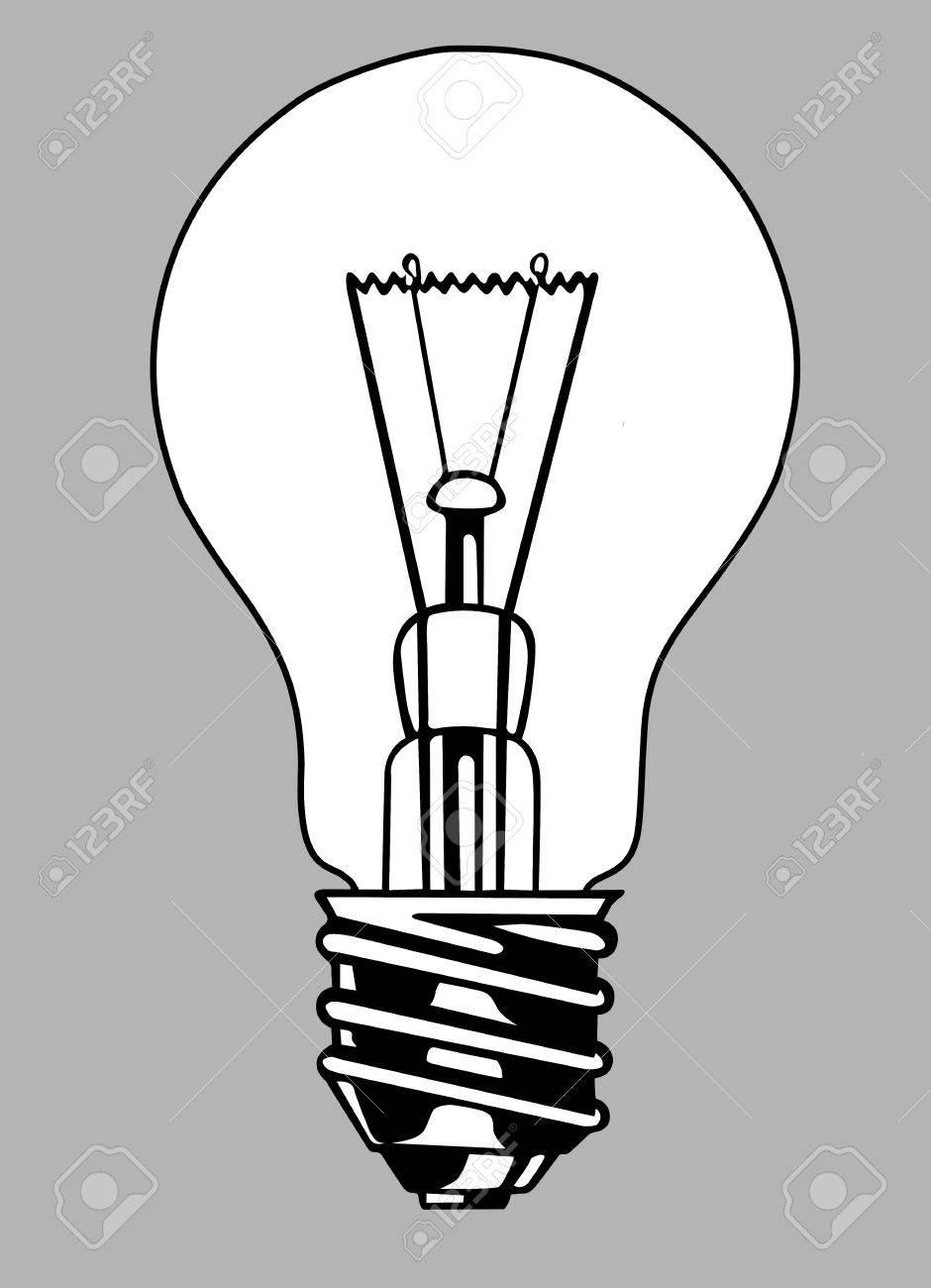 light bulb silhouette on gray background, vector illustration Stock Vector - 12880511