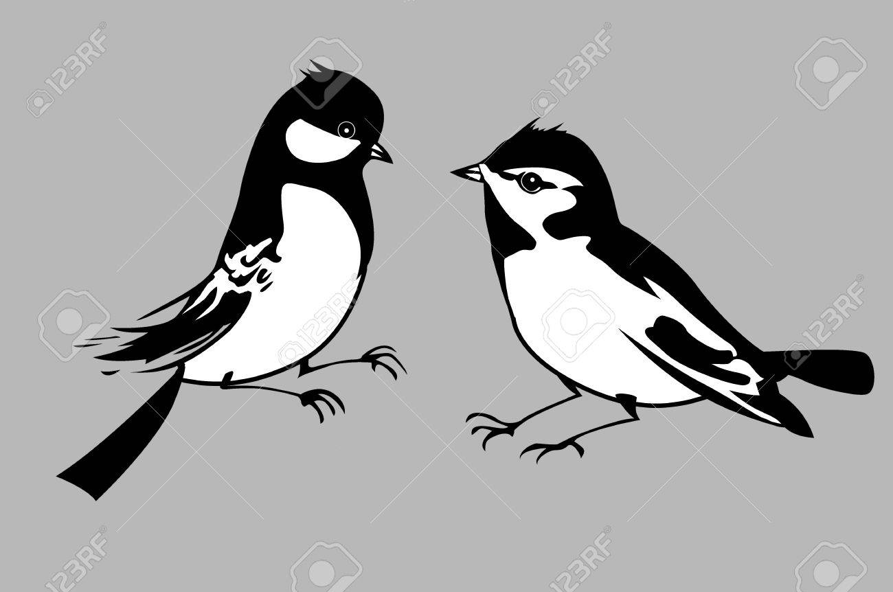 birds silhouettes on gray background, vector illustration Stock Vector - 12880504