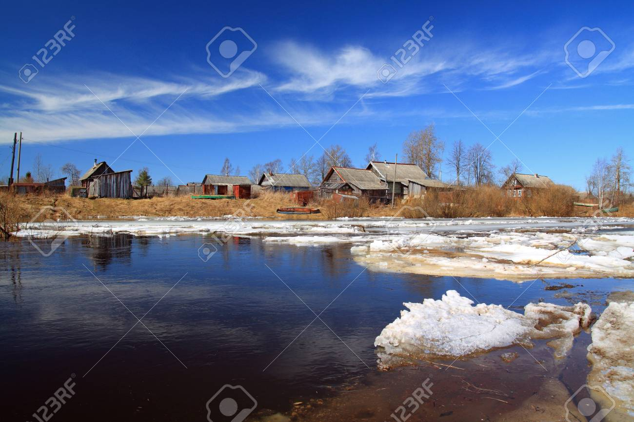 driving of ice on river to will to villages Stock Photo - 13812786
