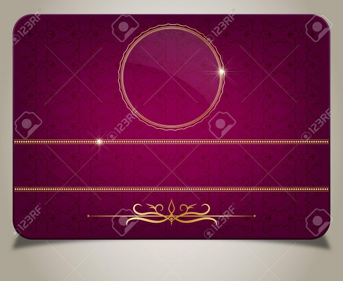 Purple gift card Stock Vector - 16254499