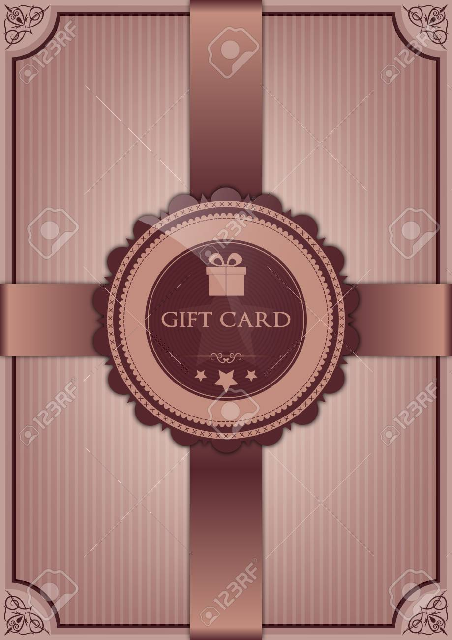 Abstract gift card Stock Vector - 16765810