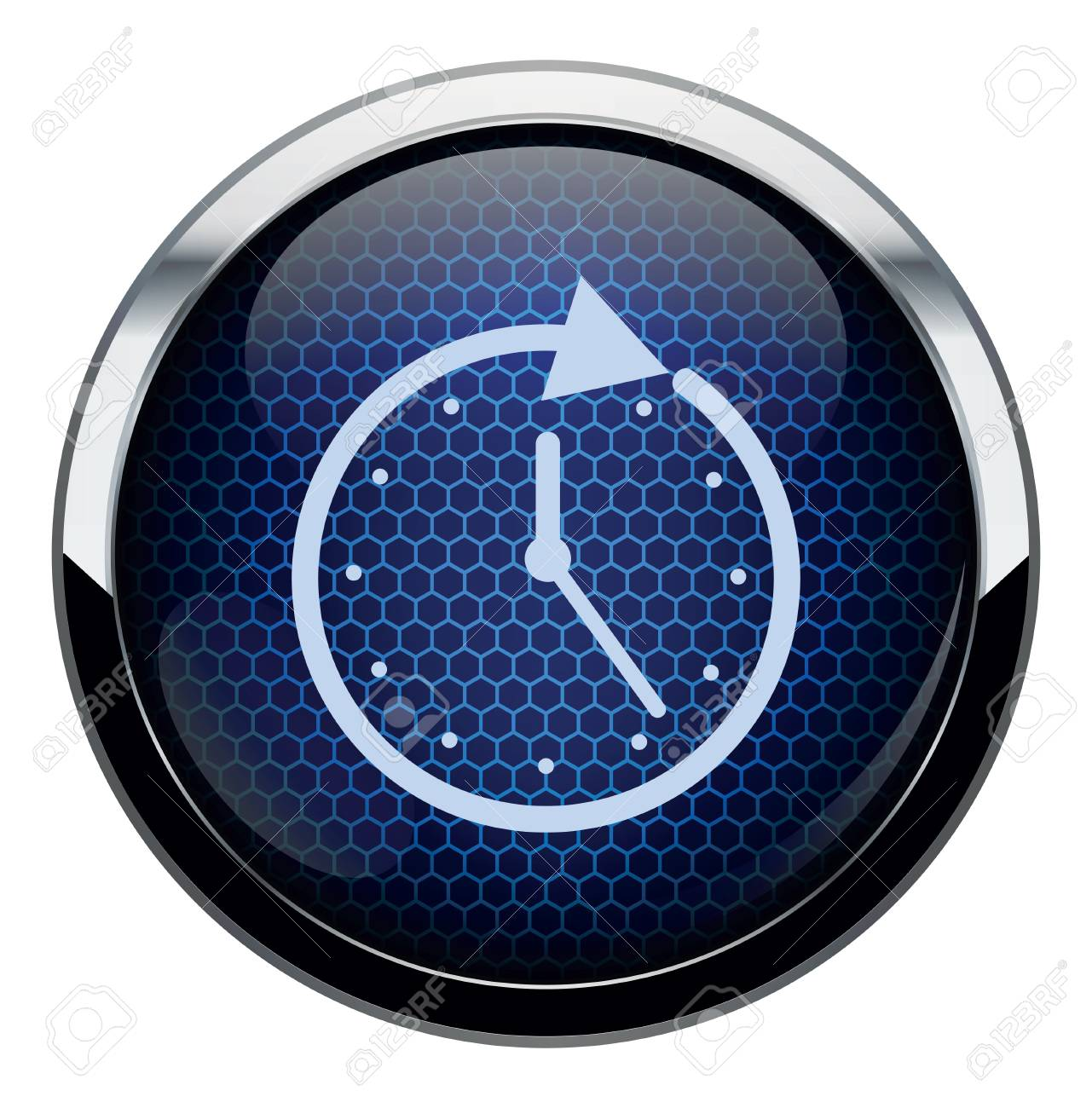 Blue honeycomb icon Stock Vector - 16879047