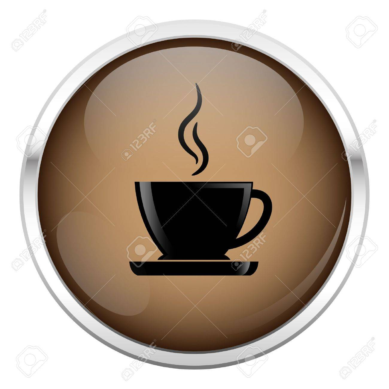 Brown coffee icon Stock Vector - 16974049