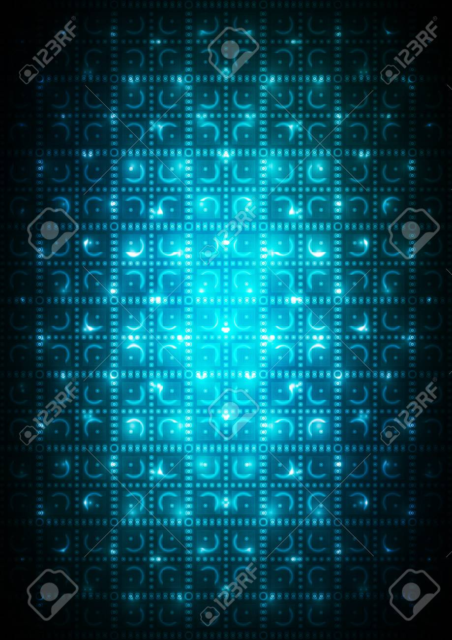 Abstract blue digital background Stock Vector - 17254162