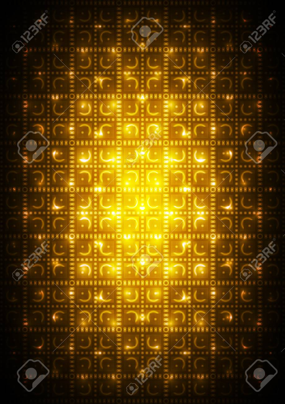 Abstract yellow digital background Stock Vector - 17254163