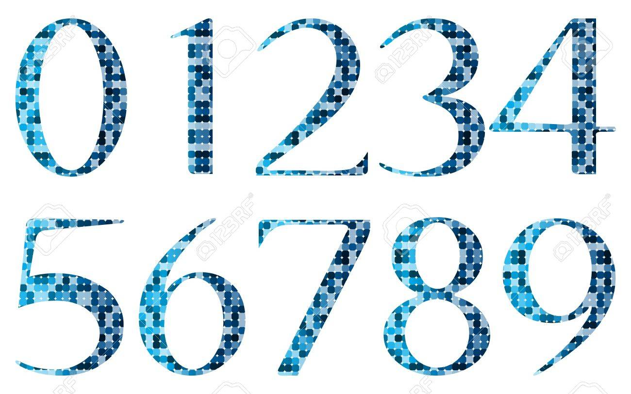 Abstract numbers Stock Vector - 17316342