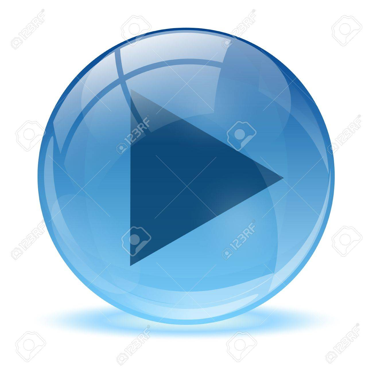 3D glass sphere play icon Stock Vector - 17422696