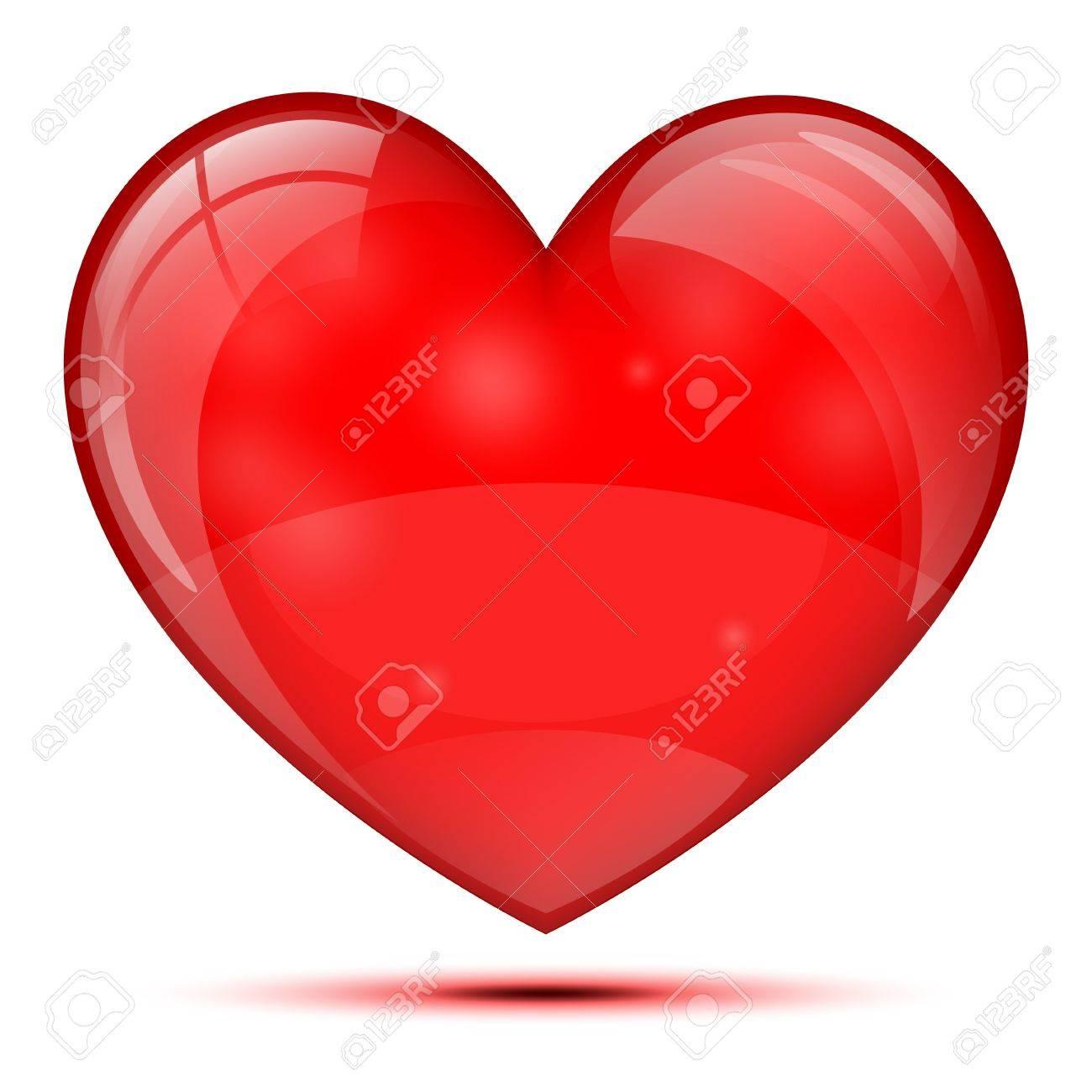 Bright glass heart Stock Vector - 17422726