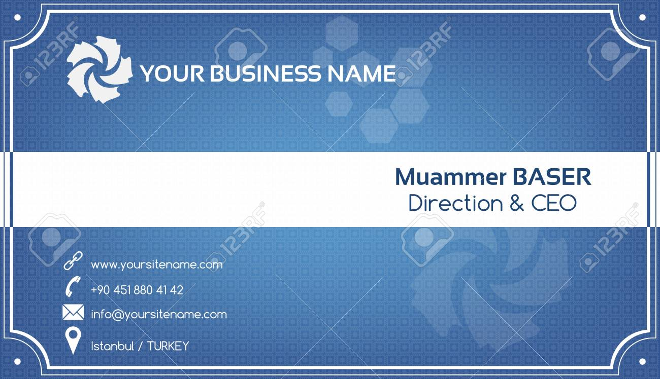 Creative blue business card Stock Vector - 18775711