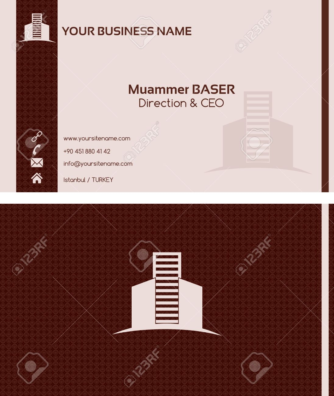 Real estate business card front and back Stock Vector - 18775723