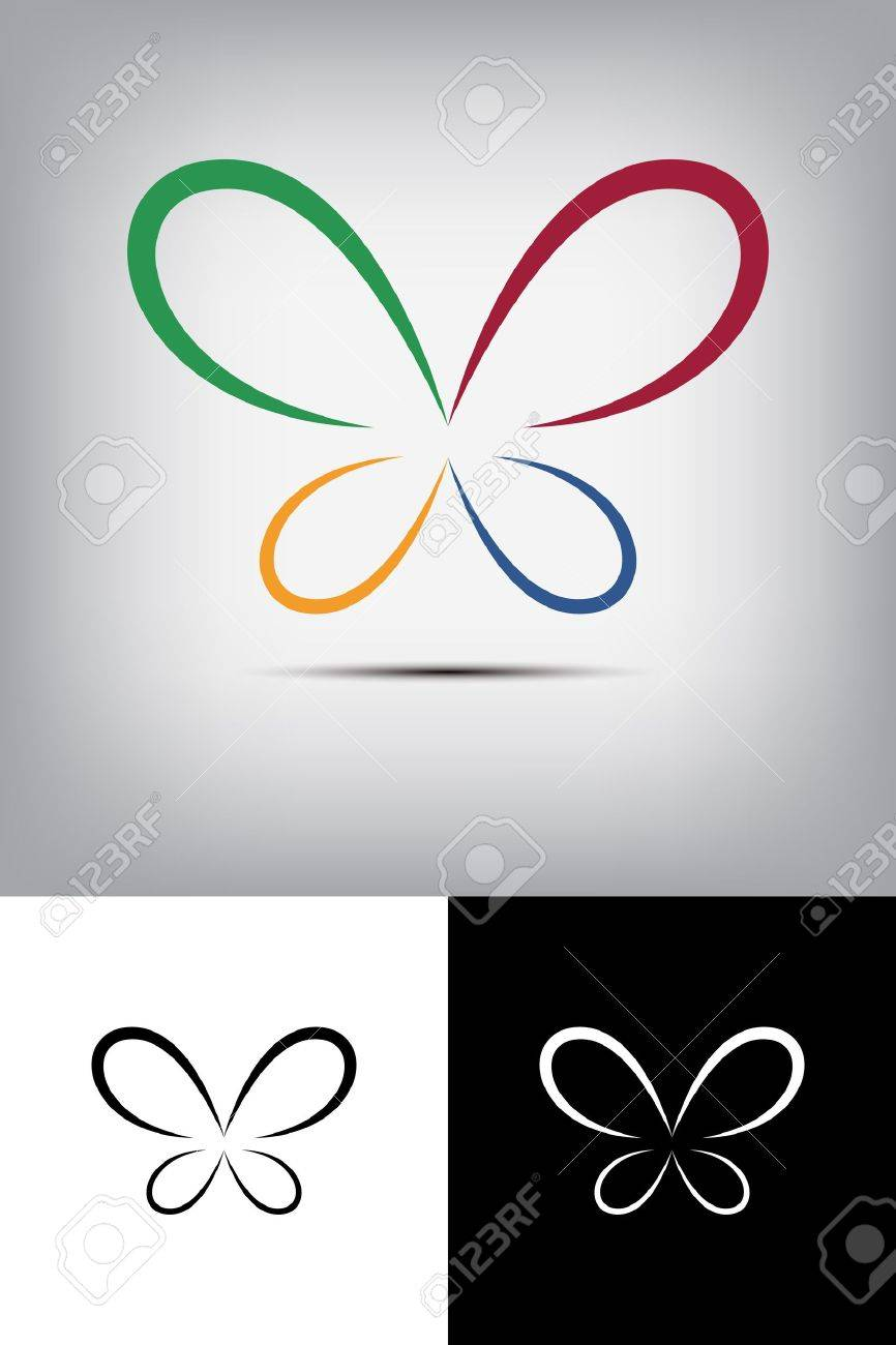 Colorful butterfly logo Stock Vector - 18965551