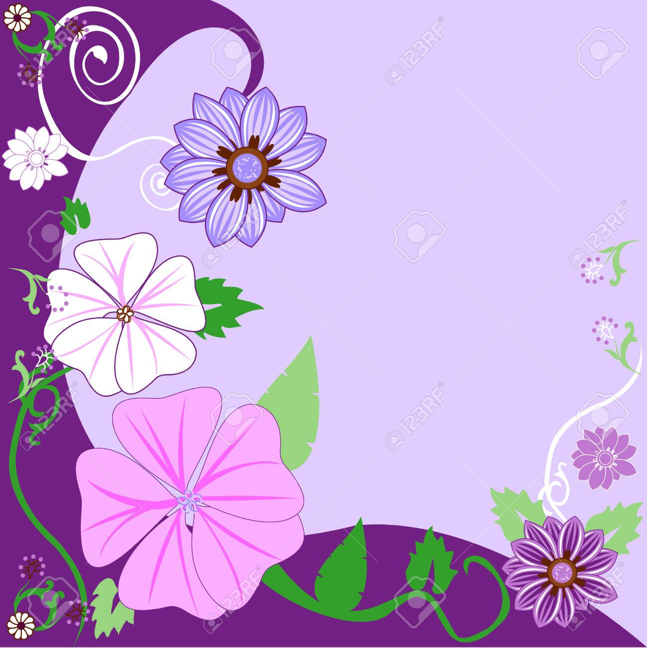 Beautiful Floral Background. Vector Stock Vector - 5355565