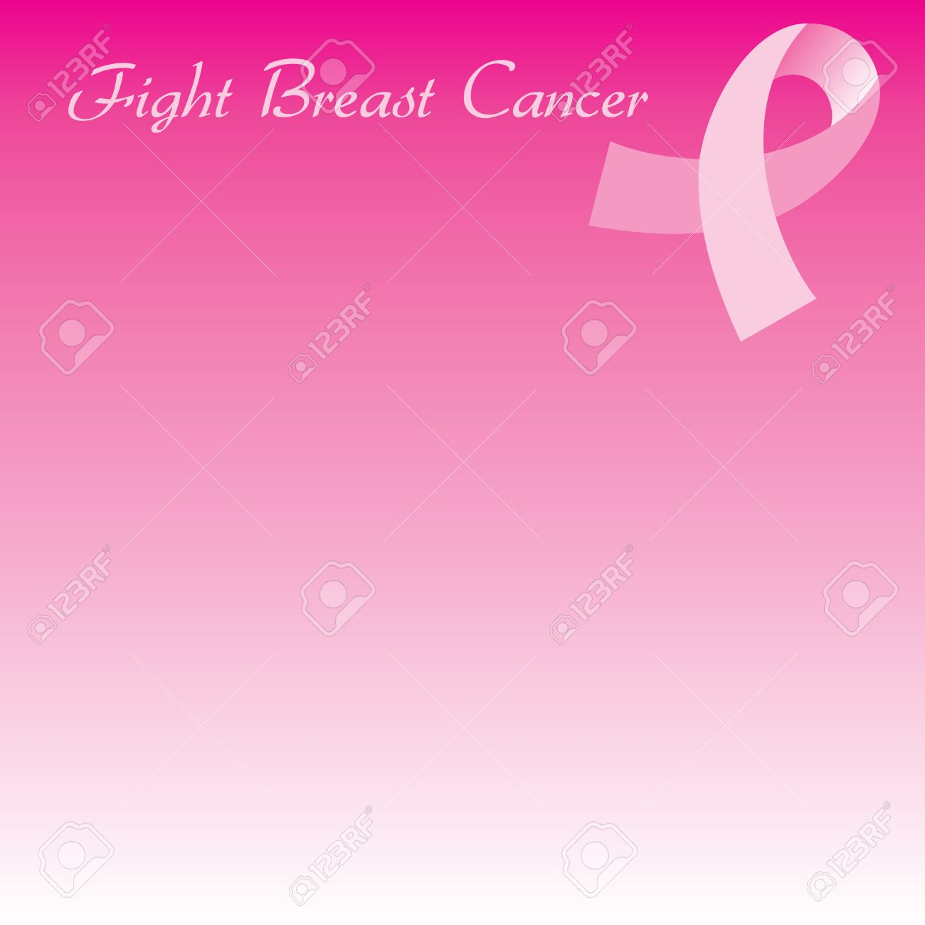 Illustration For Breast Cancer Awareness Month Background Can