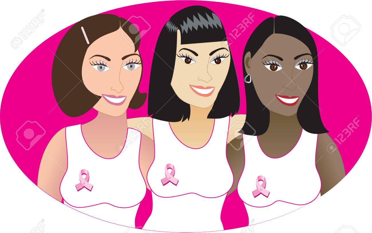Illustration for Breast Cancer awareness month. - 5659403