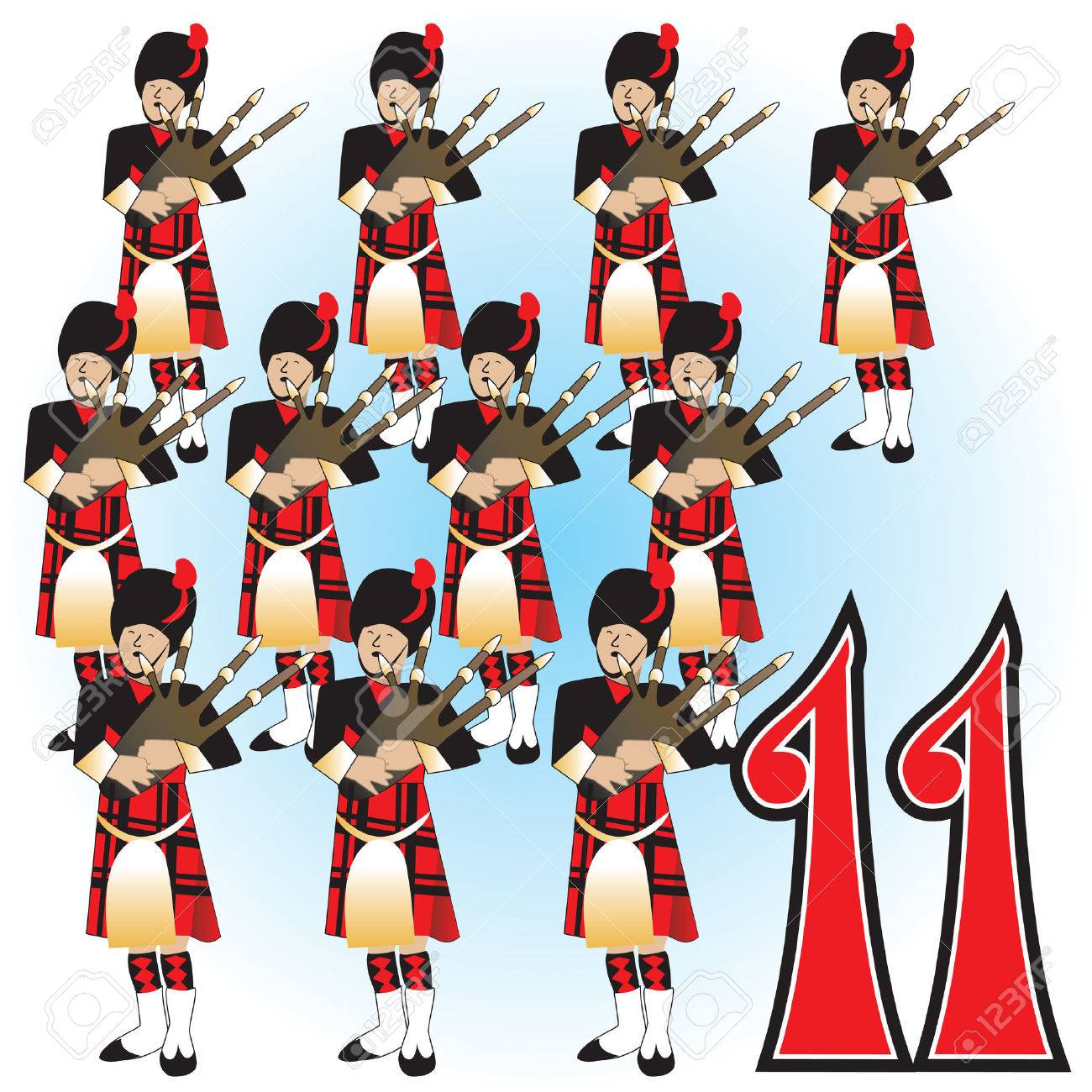 The 12 Days Of Christmas Illustration. Royalty Free Cliparts ...