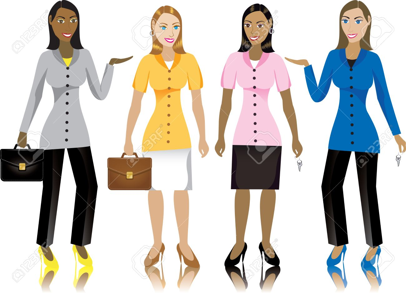 career business women in suits illustration royalty career business women in suits illustration stock vector 6675836