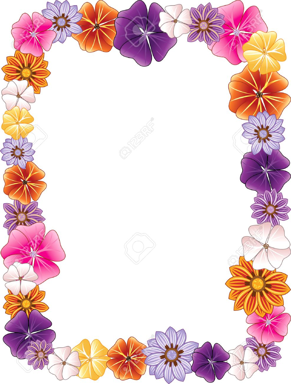 illustration of a Flower border. Stock Vector - 7091820