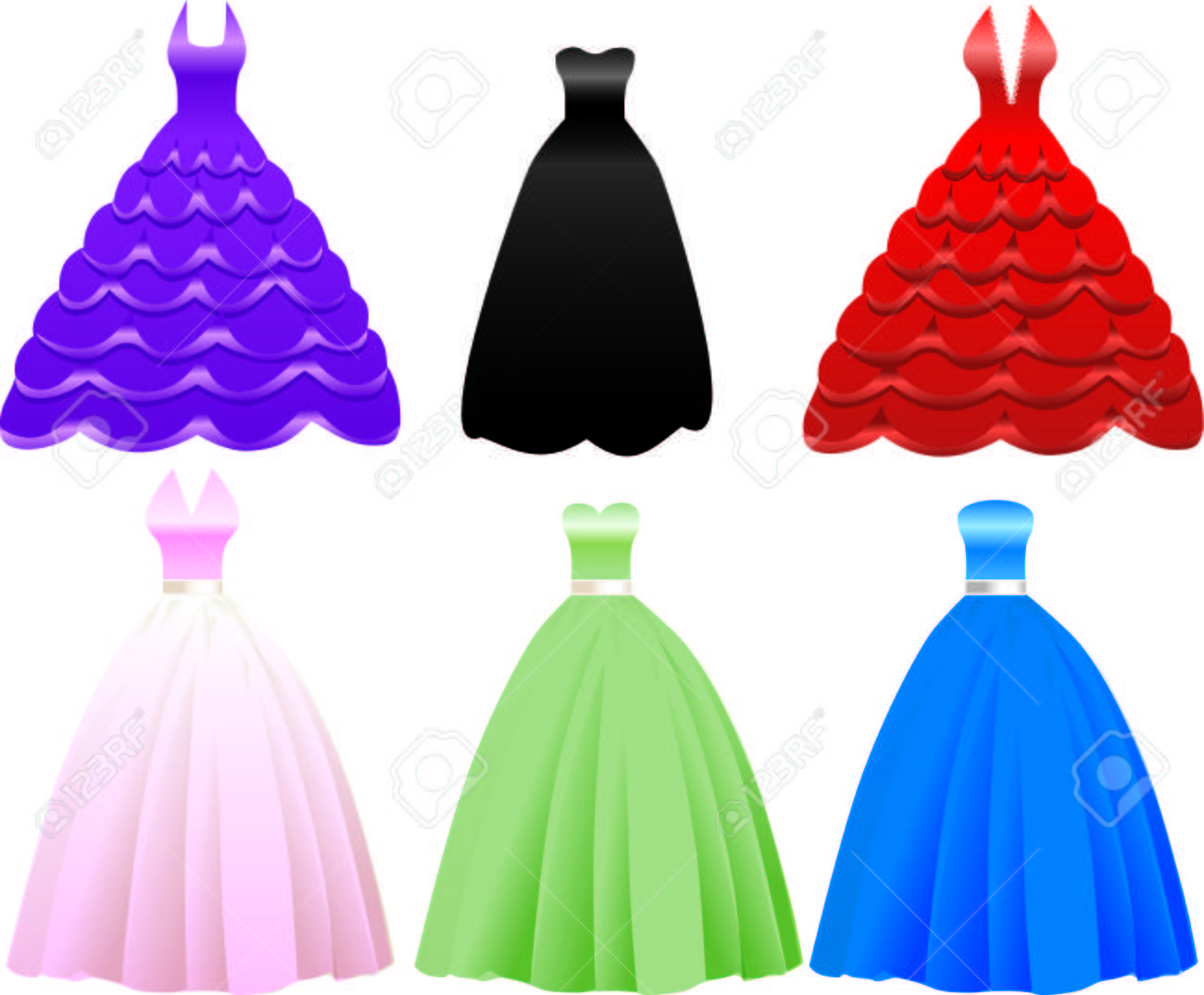 642 Prom Dress Cliparts, Stock Vector And Royalty Free Prom Dress ...