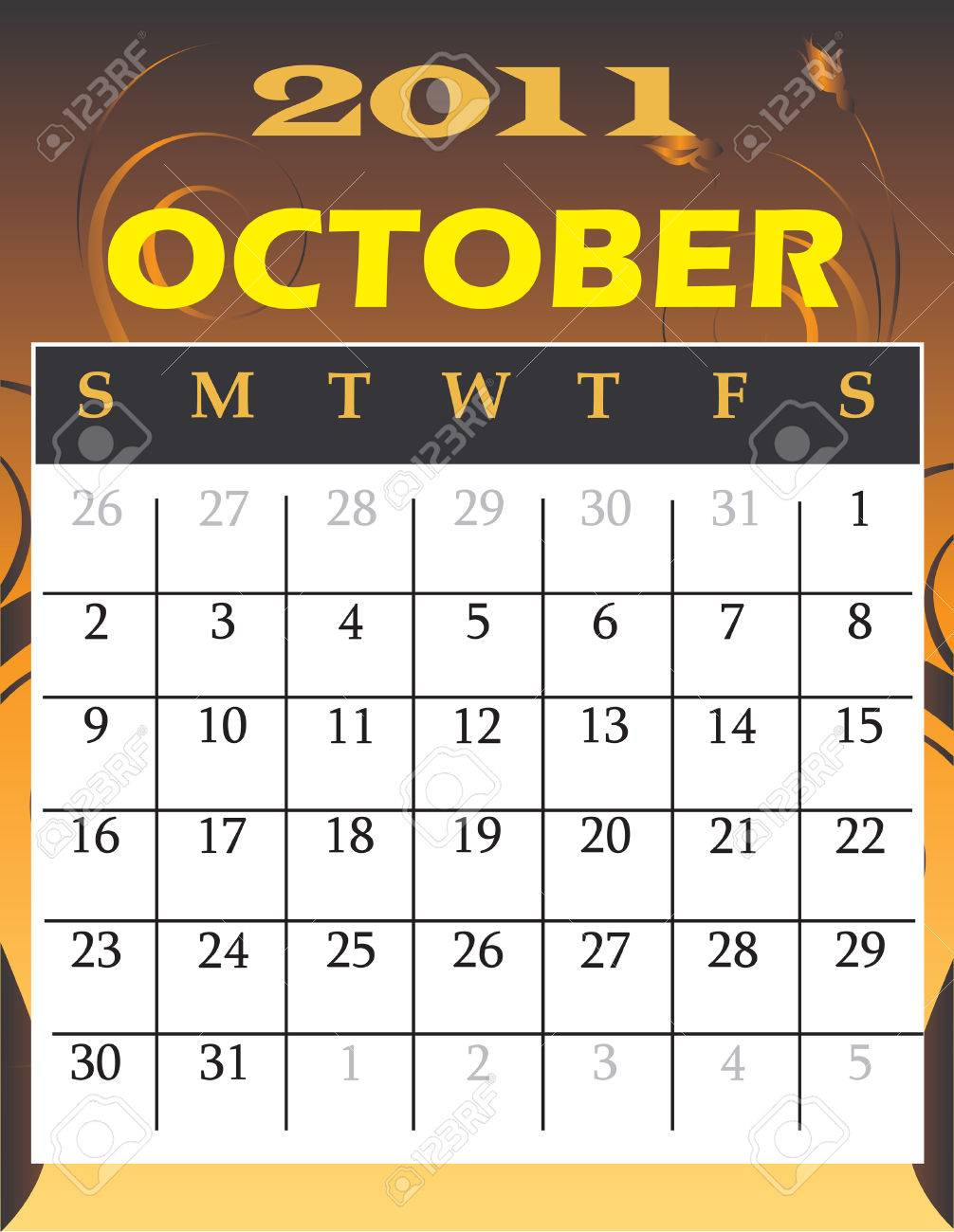 Illustration of 2011 theme monthly calendars. Stock Vector - 7879173