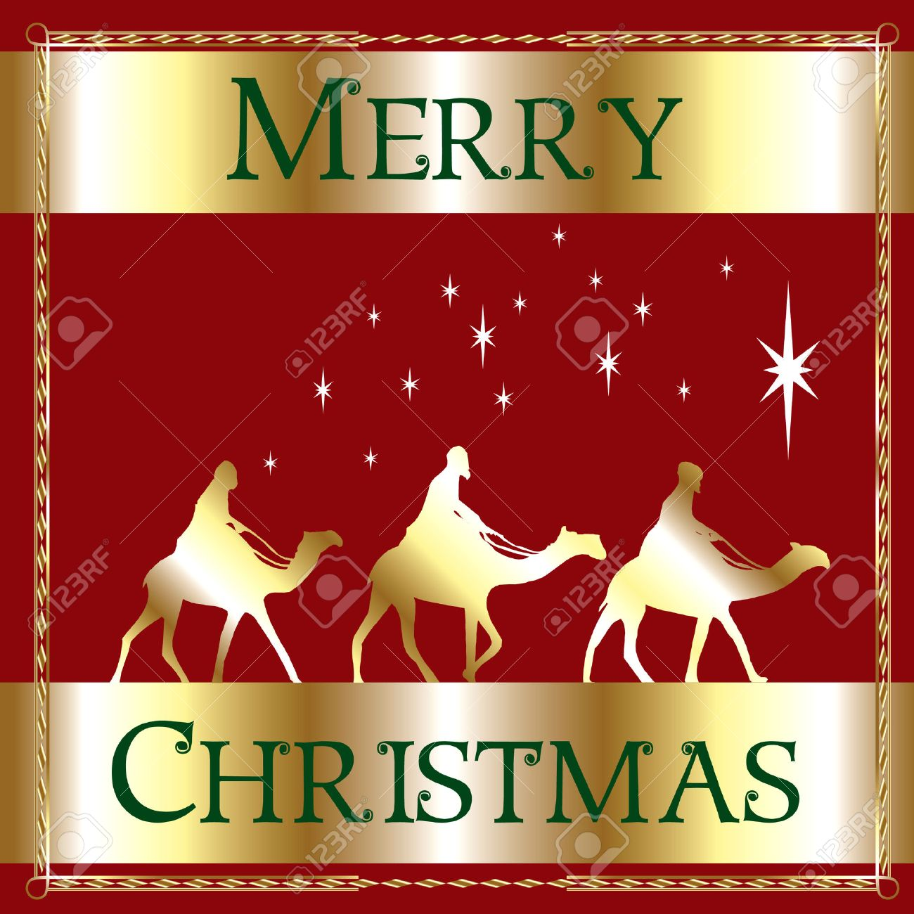 A Merry Christmas Wisemen. Royalty Free Cliparts, Vectors, And ...