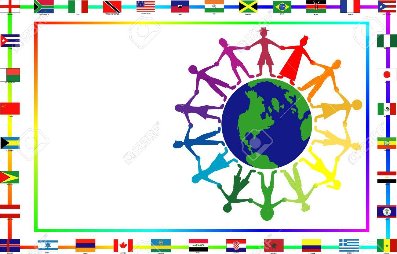 Illustration for cultural event showing diversity and 36 different flags. Stock Photo - 8519731