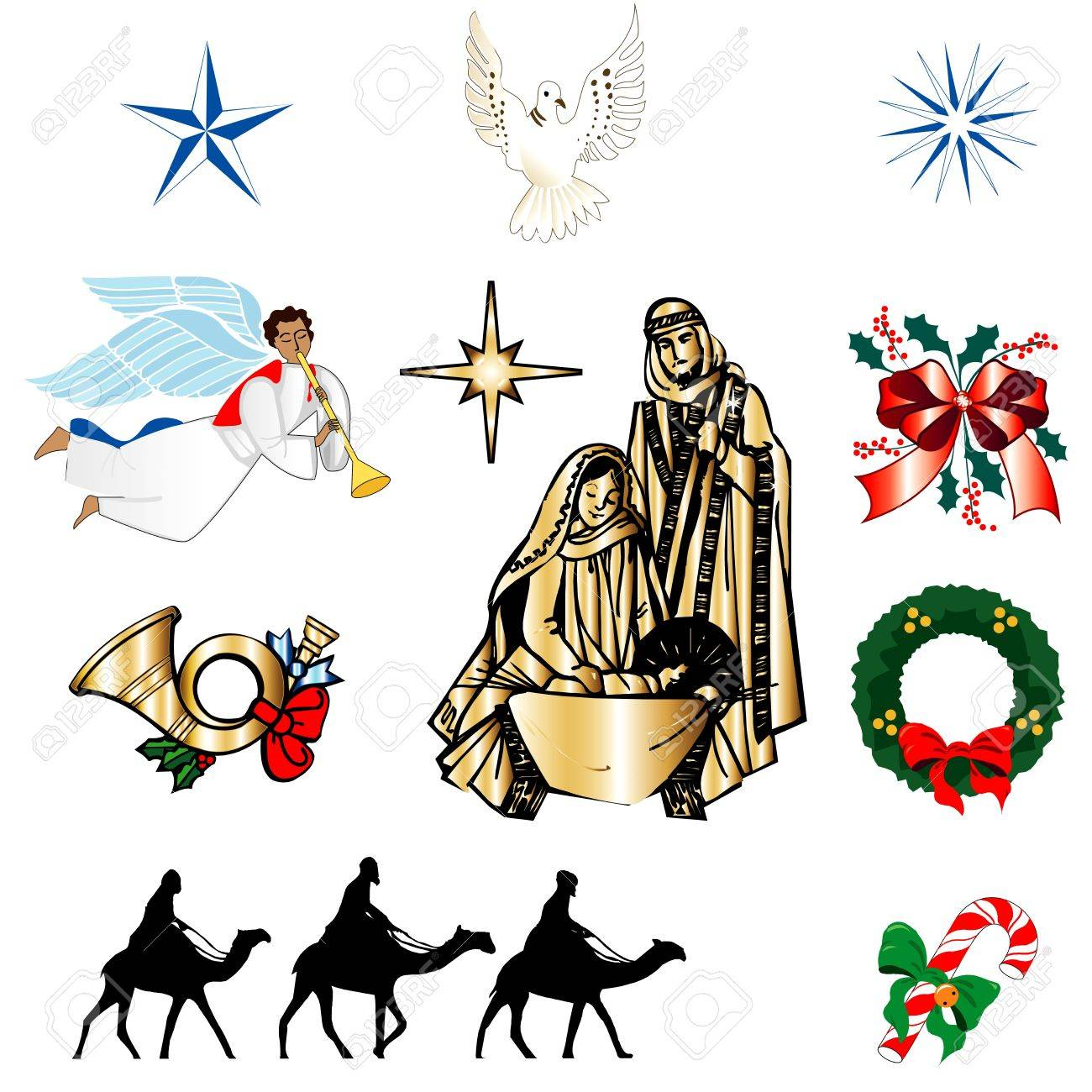 Set of ten Christmas or Holiday Icons. Vector Illustration. Stock Vector - 11579611