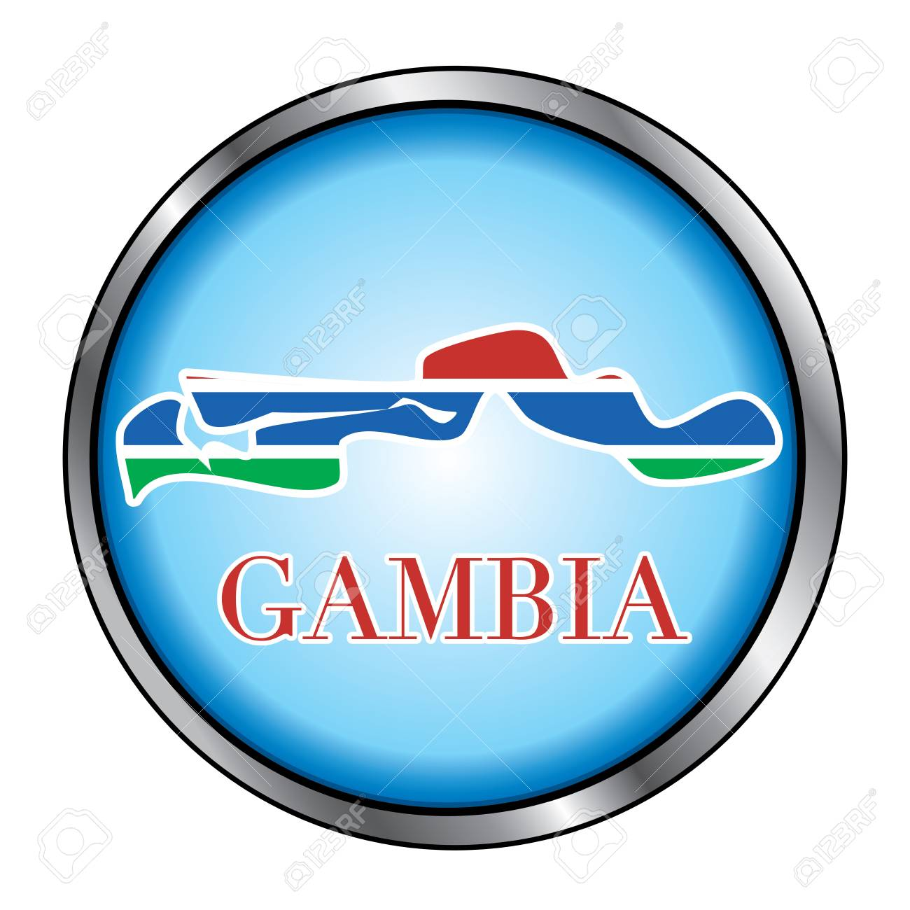 Vector Illustration for the country of Gambia Round Button. Stock Vector - 12025981