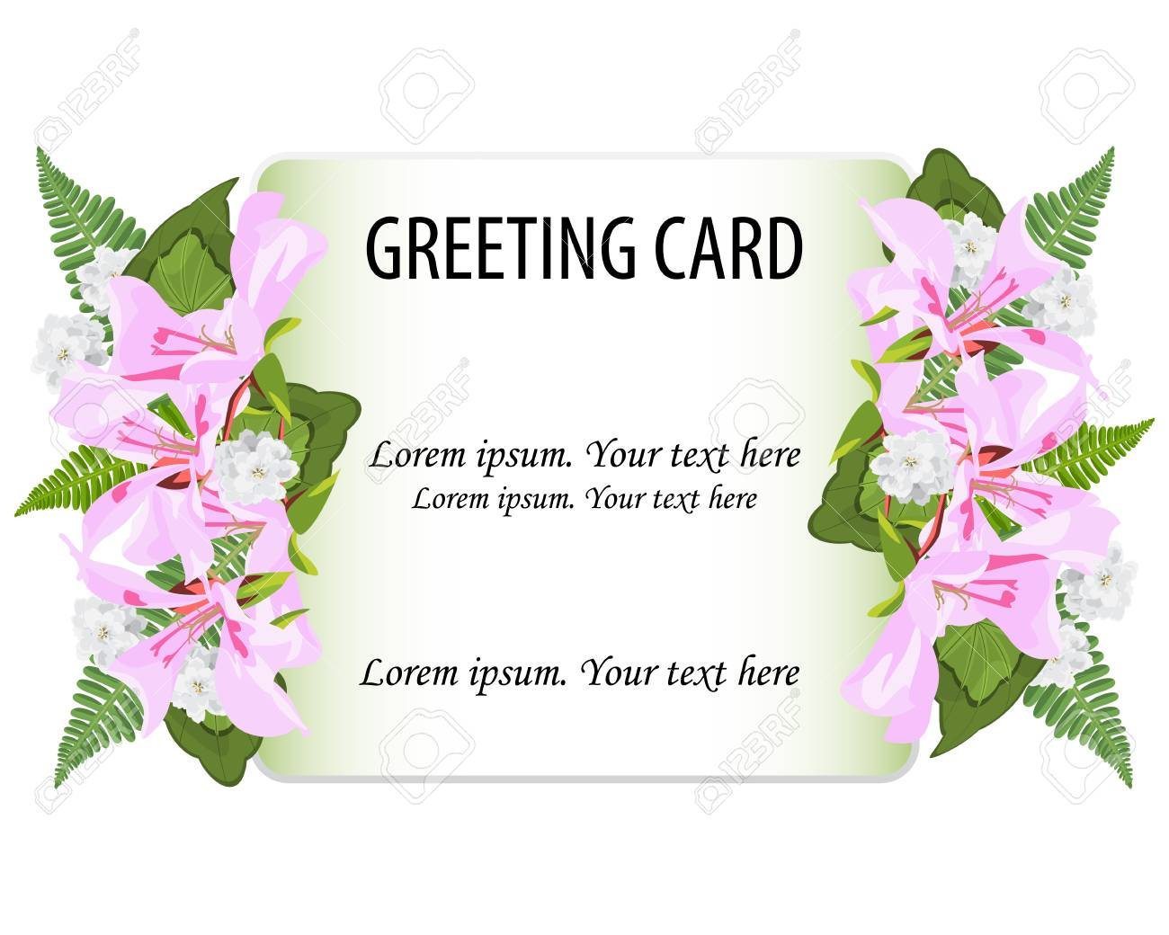 Wedding Invitation Card Greeting Card Vector Floral Greenery