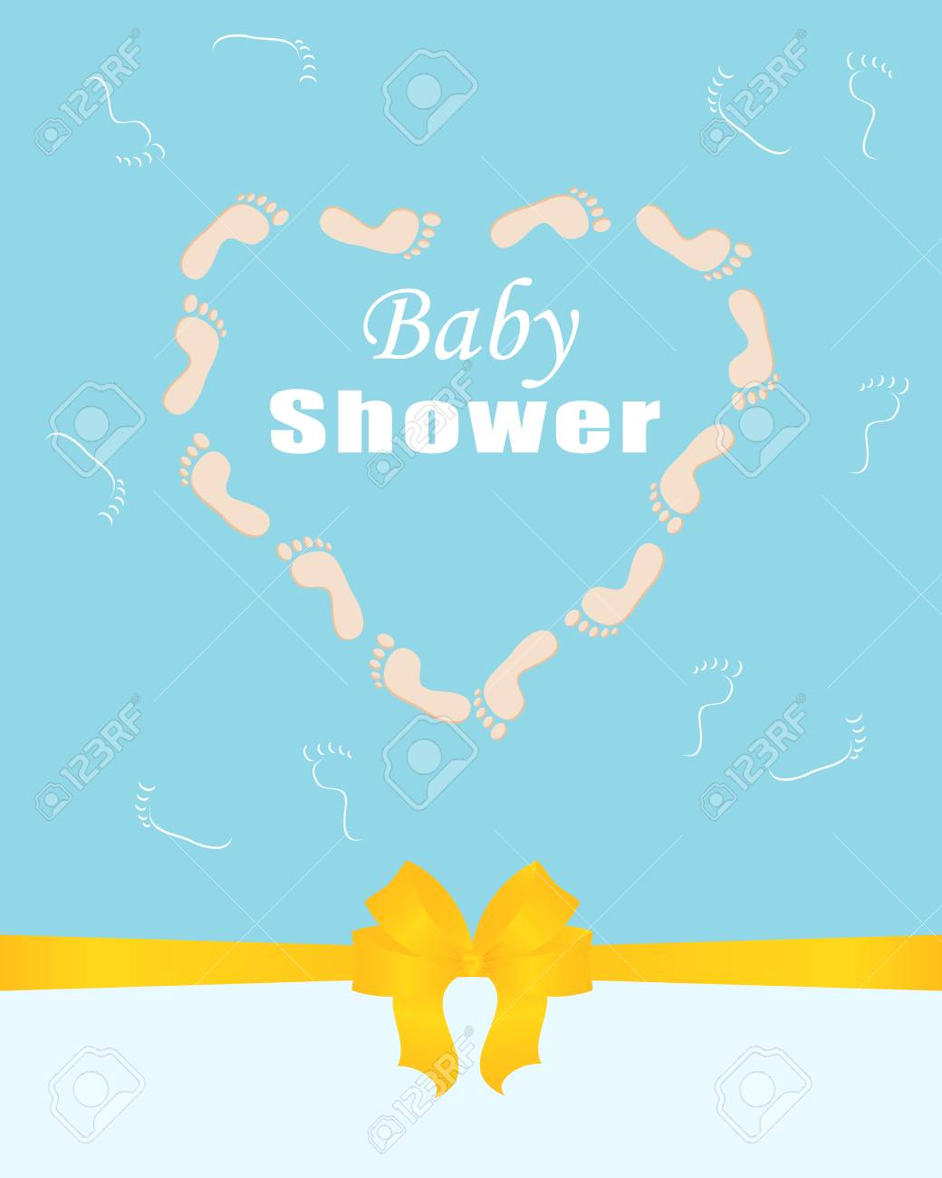 Invitation Template Greeting Card Baby Shower Arrival Birth