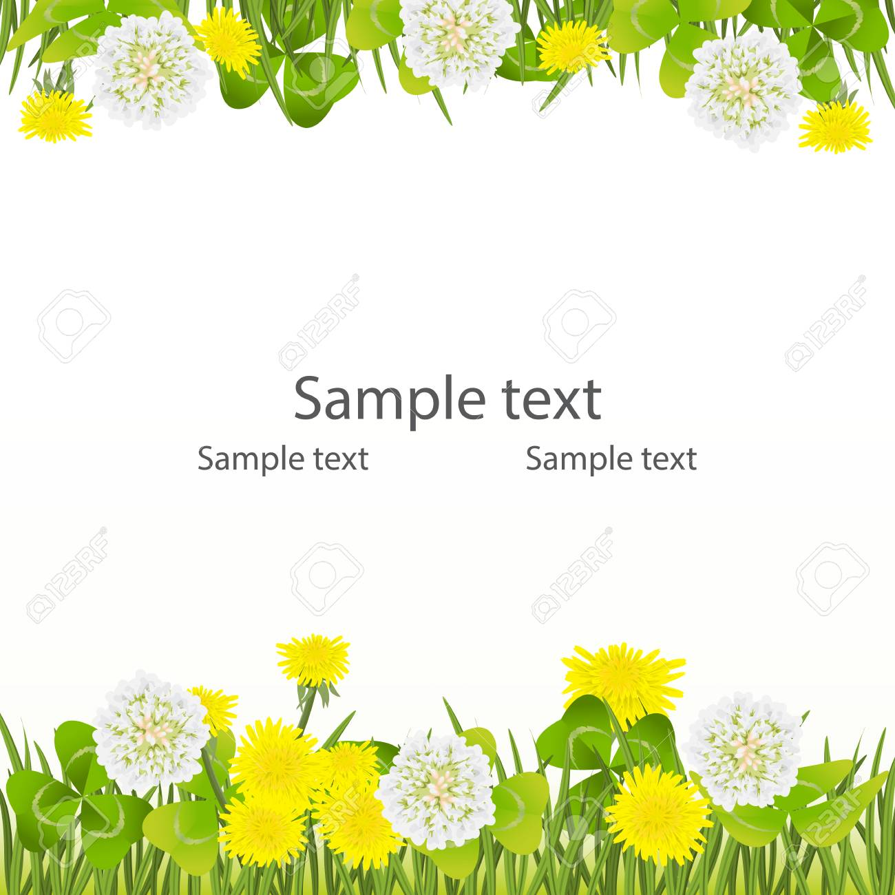 Spring background, Easter, Mother's day birthday, wedding frame