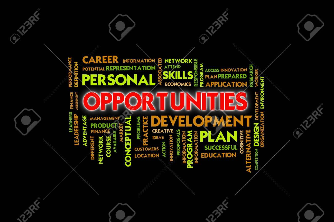 Business wording concept, opportunities Stock Photo - 10430115