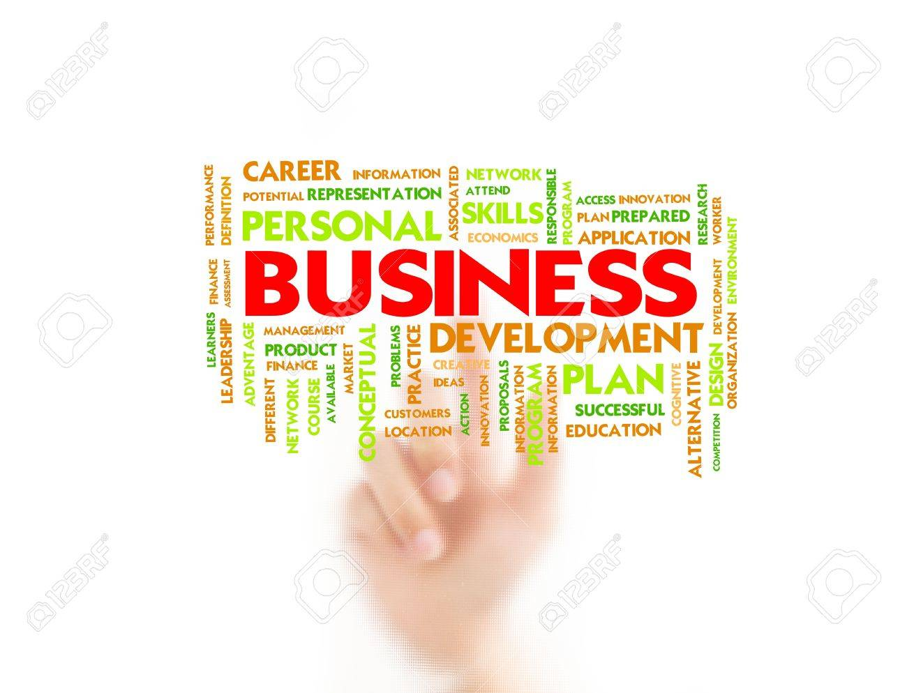Man finger pointing on business concept, business Stock Photo - 10430213
