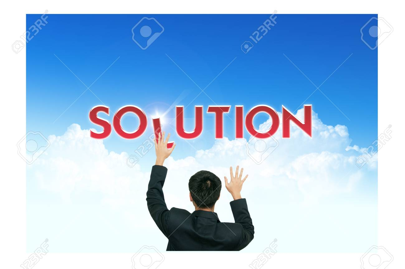 A business man climb business words on blue sky background Stock Photo - 10473495