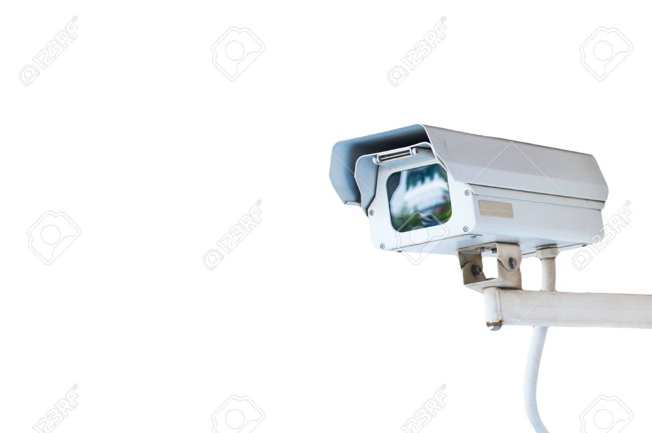 Security Camera or CCTV isolated on white background Stock Photo - 10489333