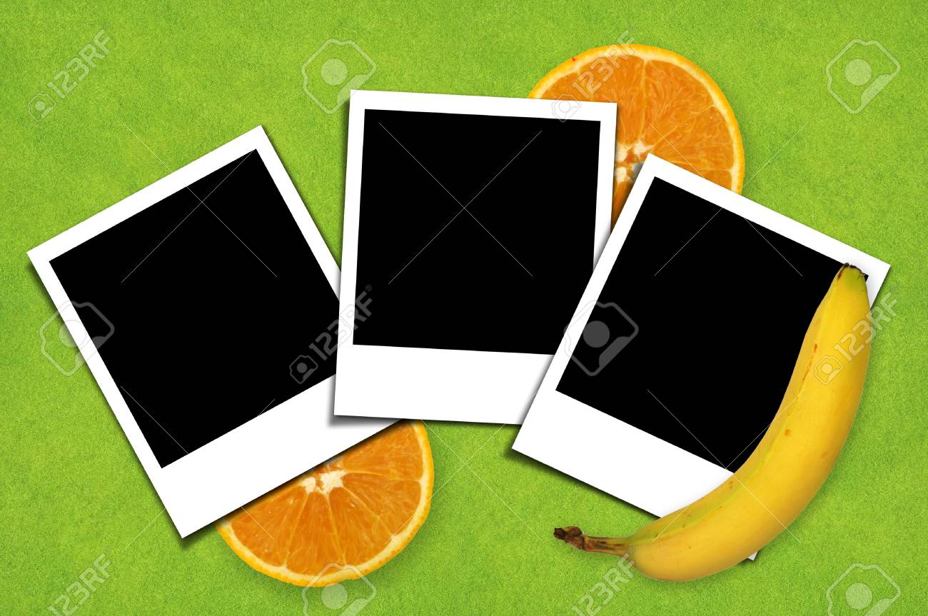 Picture frame with orange background Stock Photo - 10490363