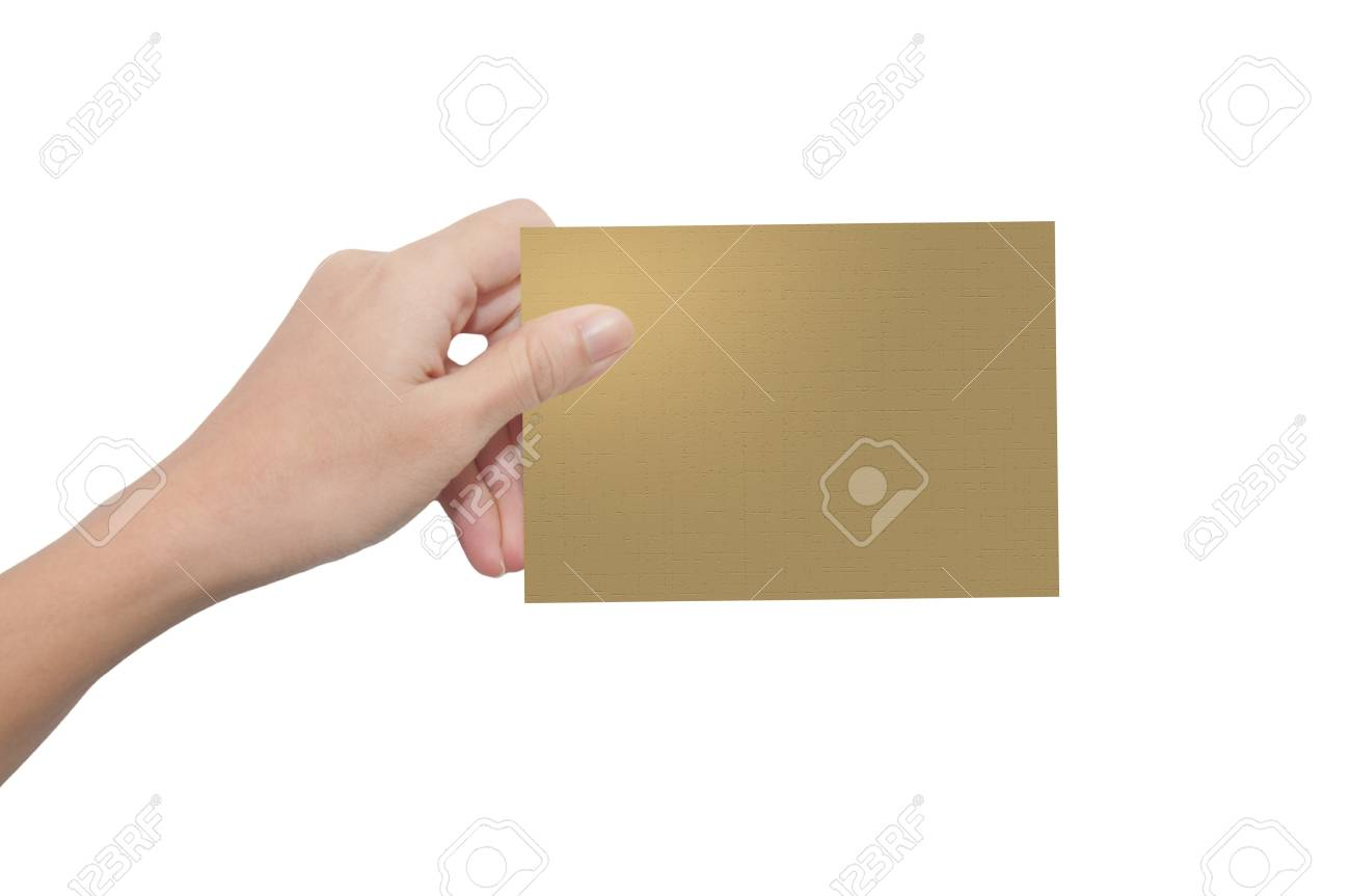 Hand holding paper Stock Photo - 10489461