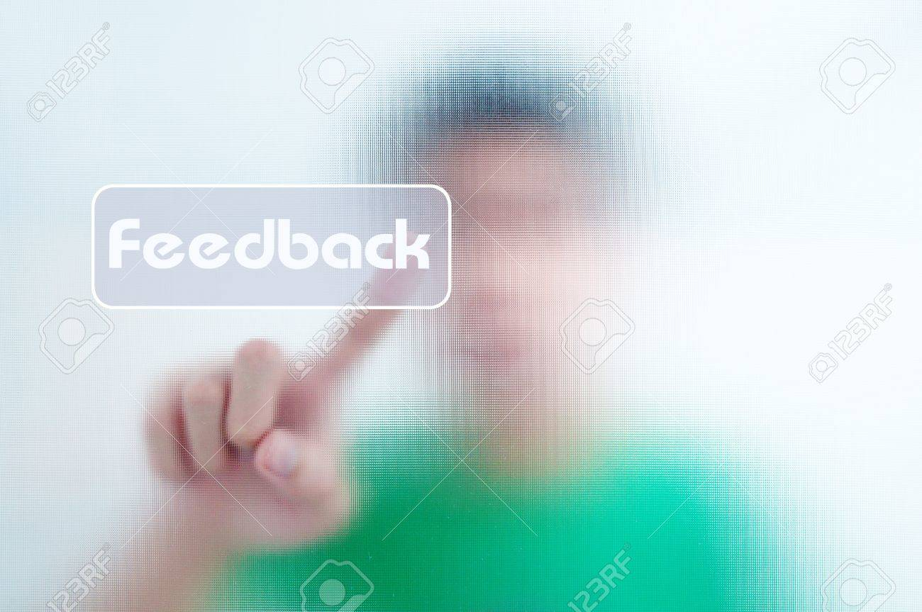 man finger pressing a touchscreen button Stock Photo - 10504395