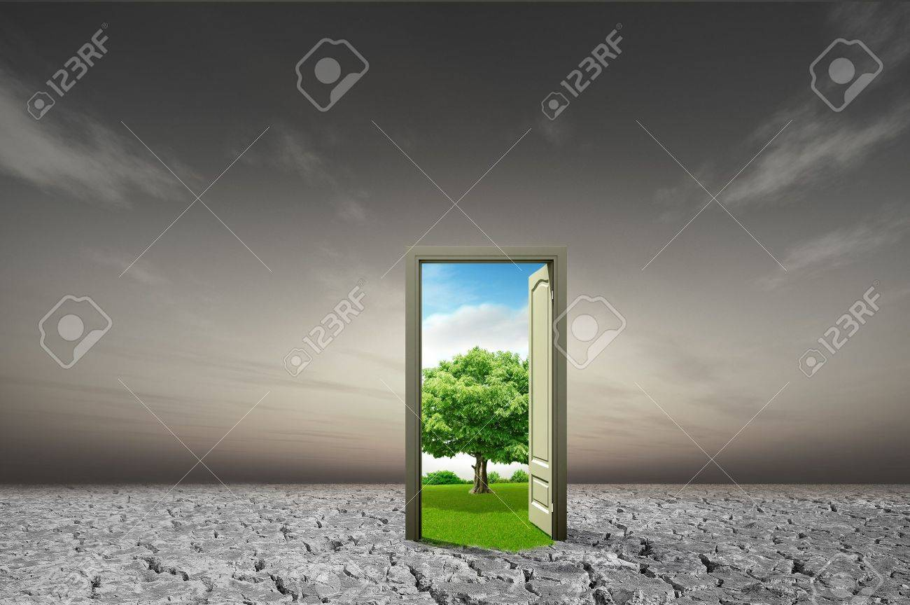 Door open to the new world for environmental concept and idea Stock Photo - 10785527 & Door Open To The New World For Environmental Concept And Idea Stock ...