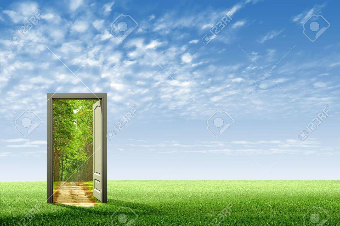 Door open to the new world for environmental concept and idea Stock Photo - 10785507 & Door Open To The New World For Environmental Concept And Idea ... Pezcame.Com