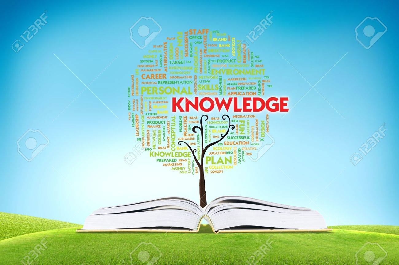 Book AND GROWING word cloud TREE for business concept Stock Photo - 11071376