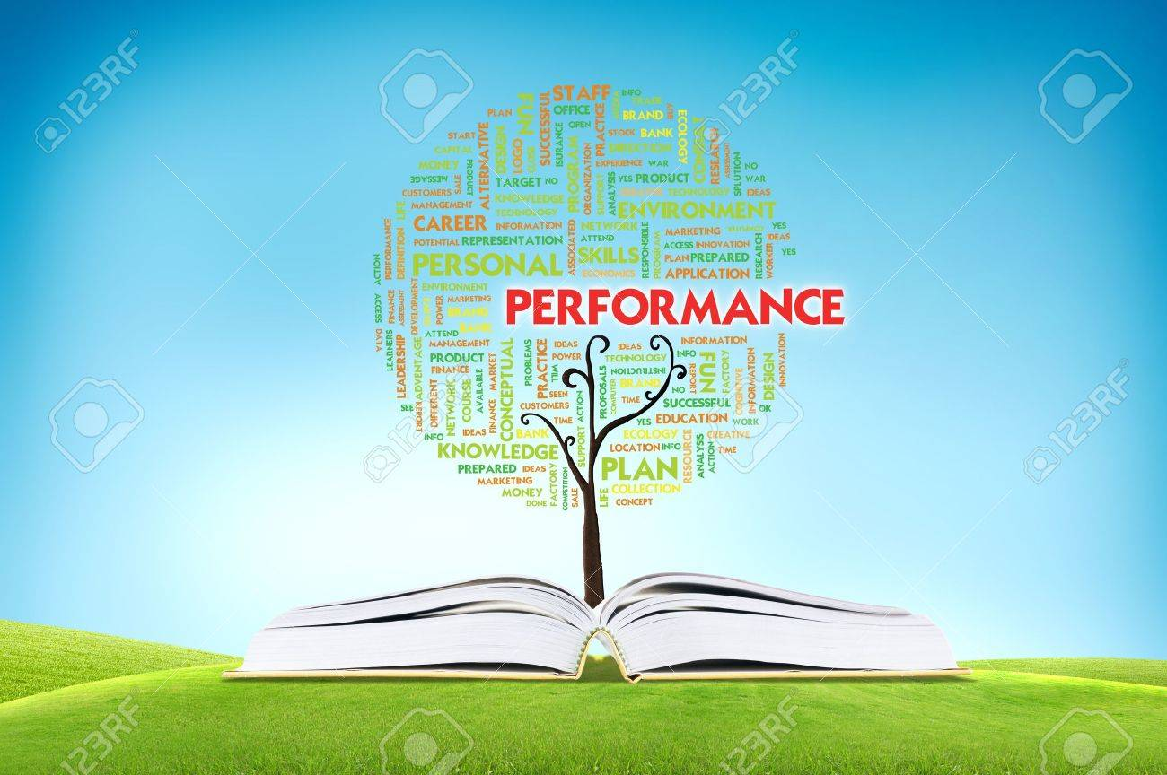 Book AND GROWING word cloud TREE for business concept Stock Photo - 11071415