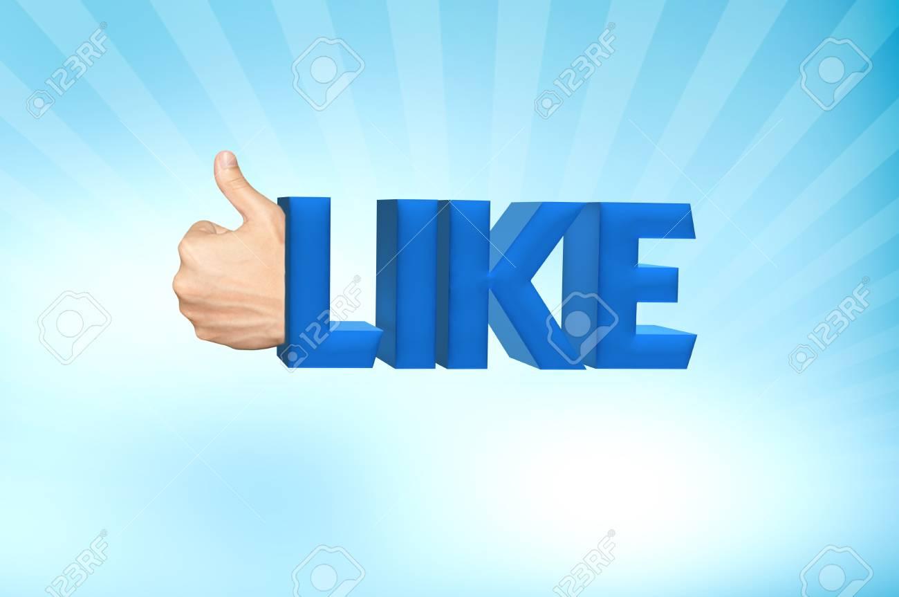 Like word 3d render Stock Photo - 11993362