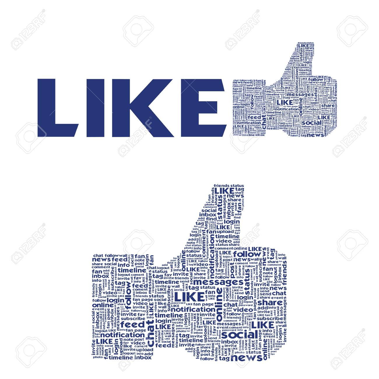 Thumb up like hand symbol with tag cloud of word Stock Photo - 12351714