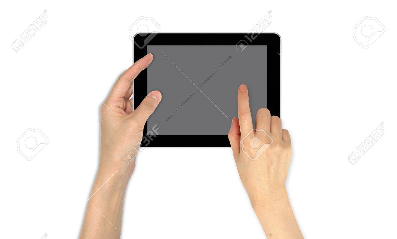 Finger Point on touch screen email communication Stock Photo - 12351846