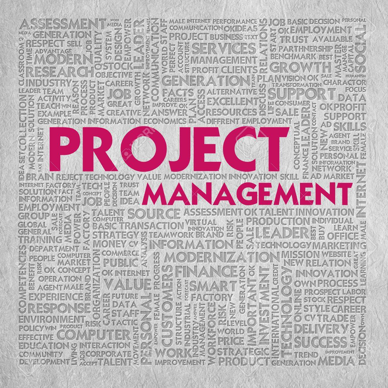 Business word cloud for business concept, Project management Stock Photo - 13525950
