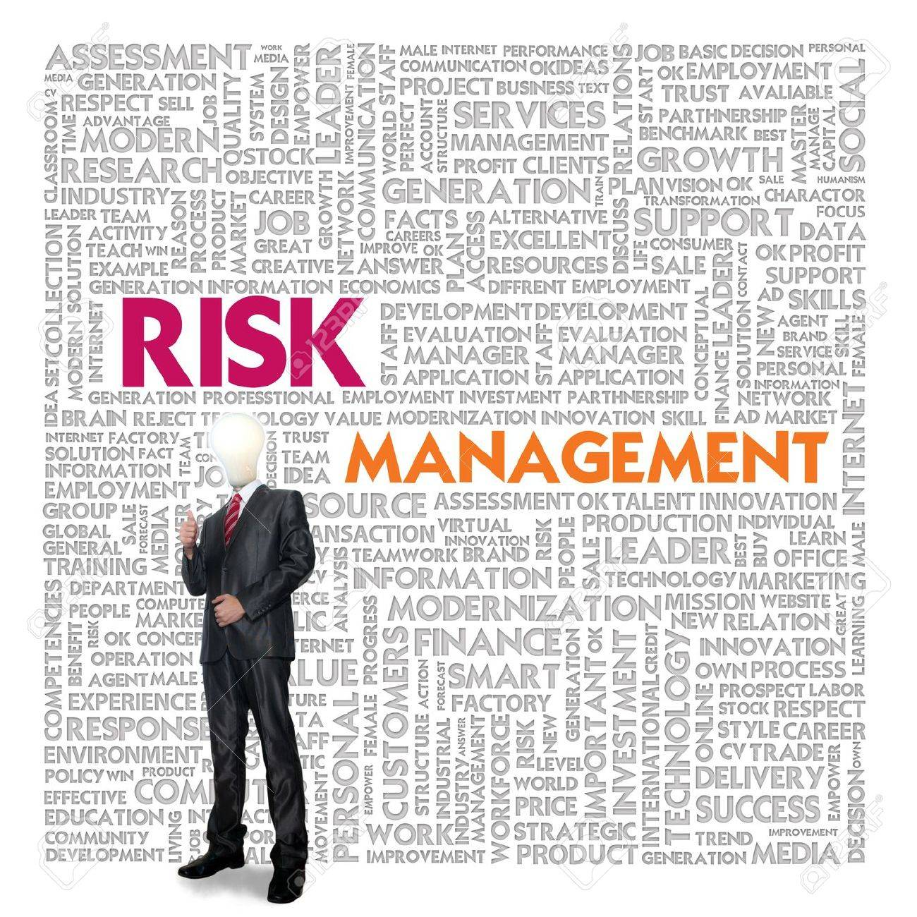 Business word cloud for business and finance concept, Risk Management Stock Photo - 13525894