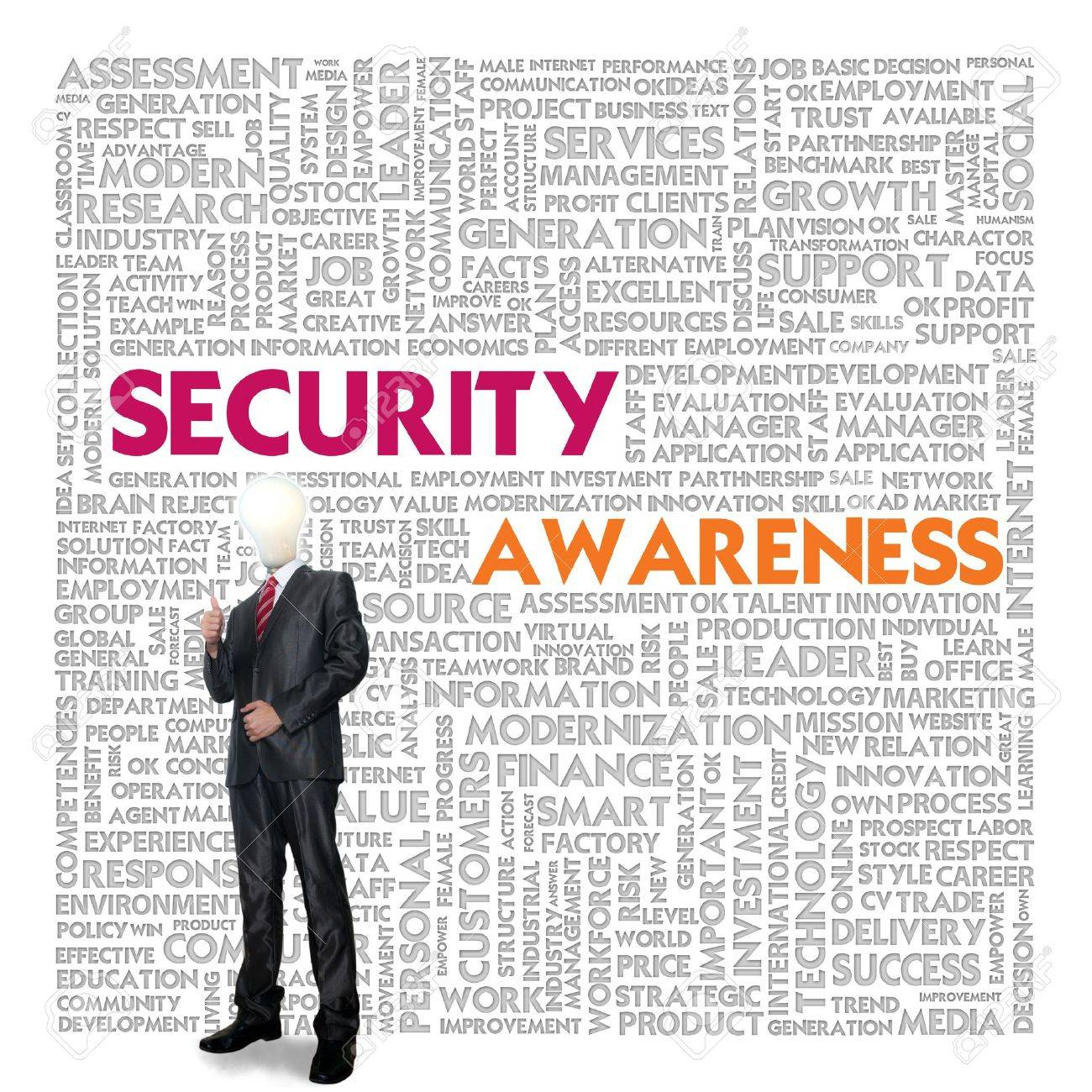 Business word cloud for business concept, Security Awareness Stock Photo - 13919497