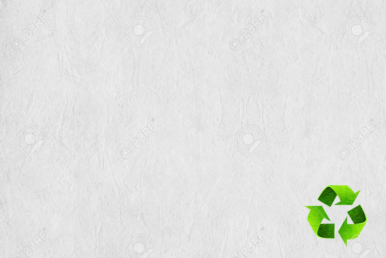 Recycle symbol on the Paper texture background Stock Photo - 13919561