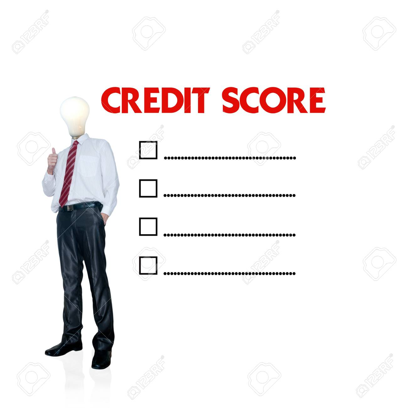 Business man mark on the check boxes credit score stock photo business man mark on the check boxes credit score stock photo 14107322 reheart Images